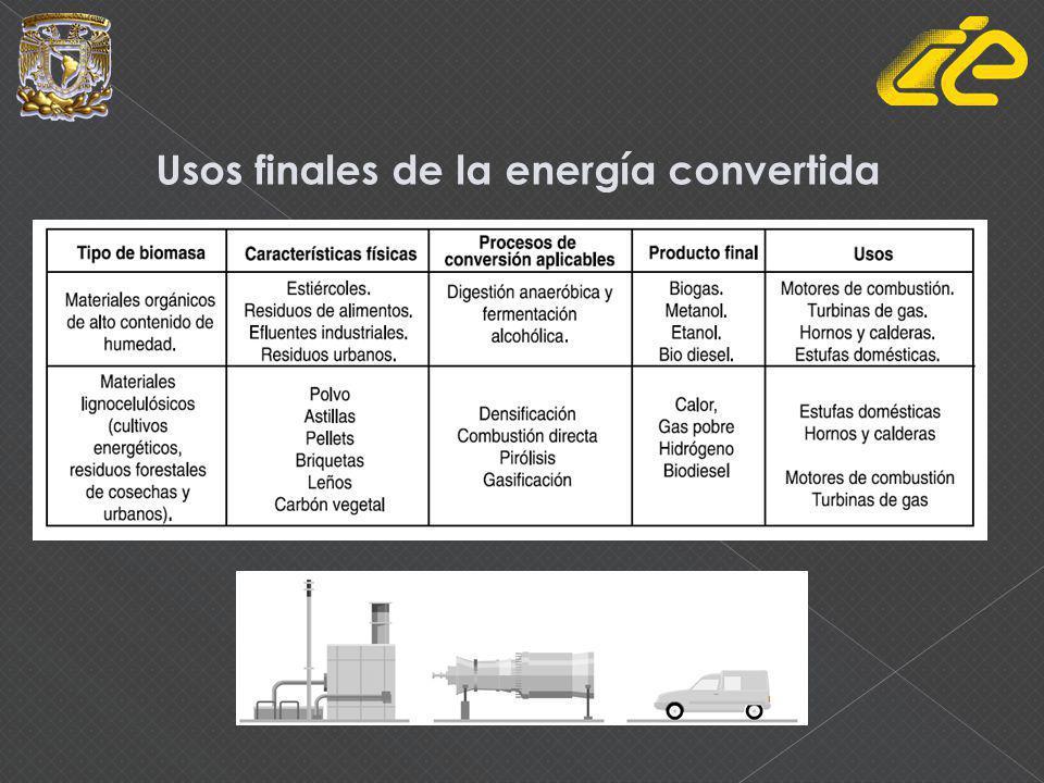 Usos finales de la energía convertida