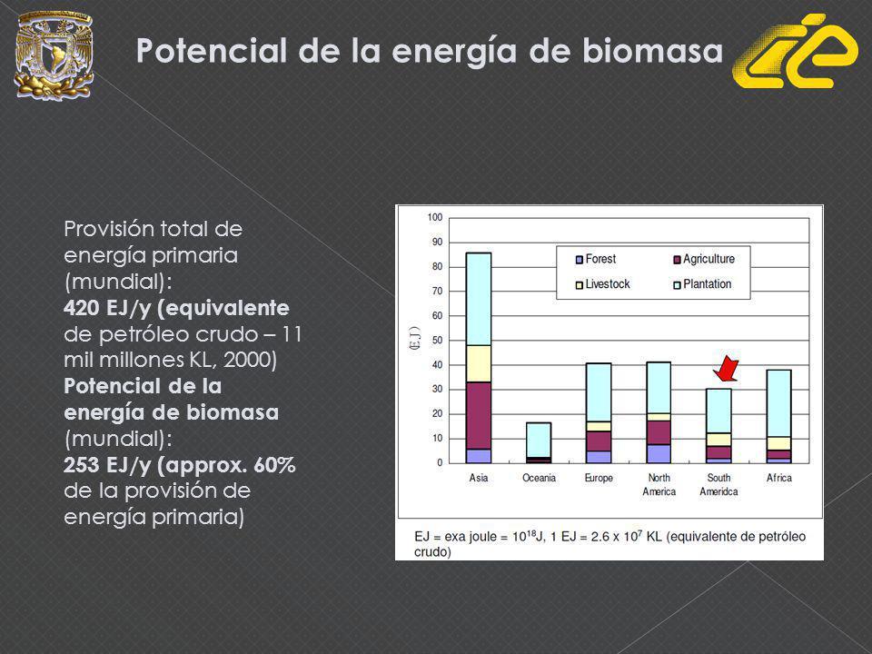Potencial de la energía de biomasa