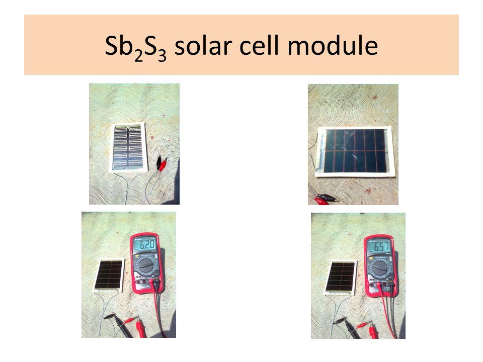 Sb2S3 solar cell module