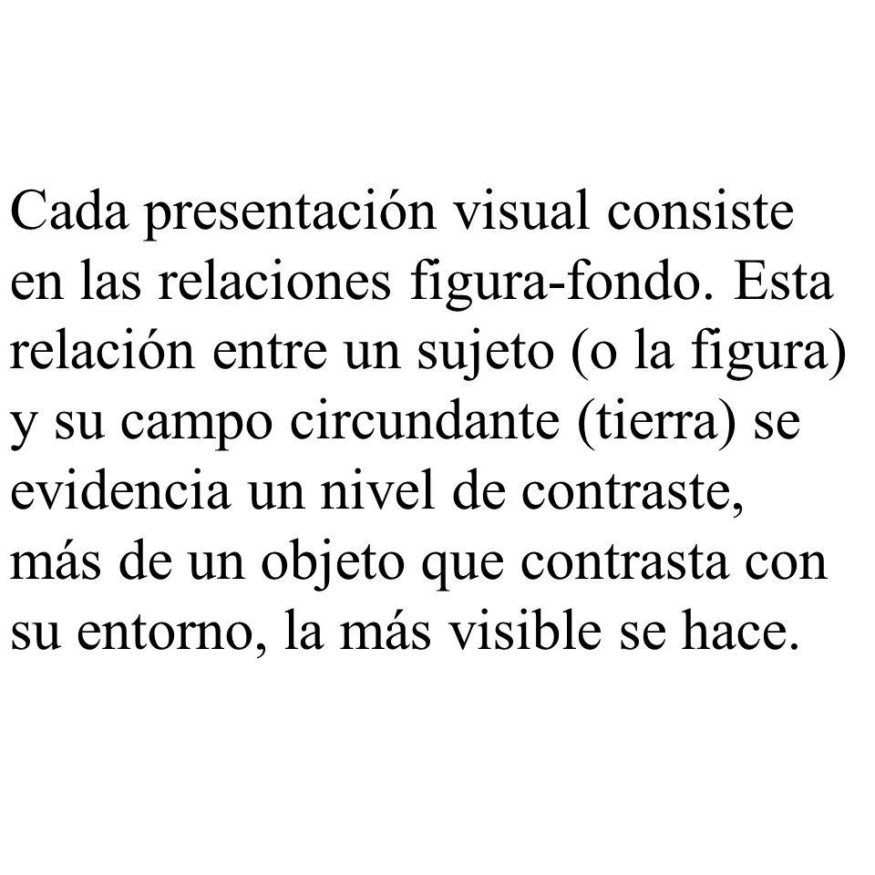 Cada presentación visual consiste en las relaciones figura-fondo
