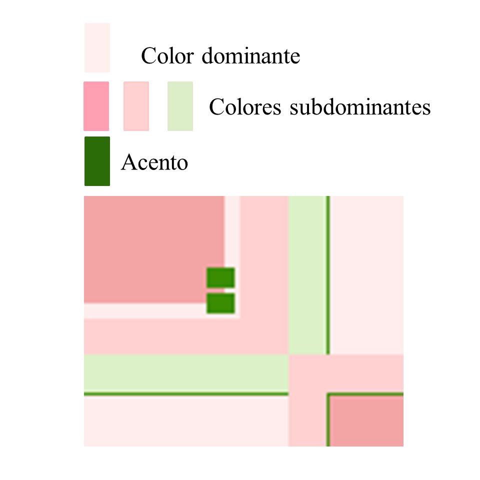 Color dominante Colores subdominantes Acento