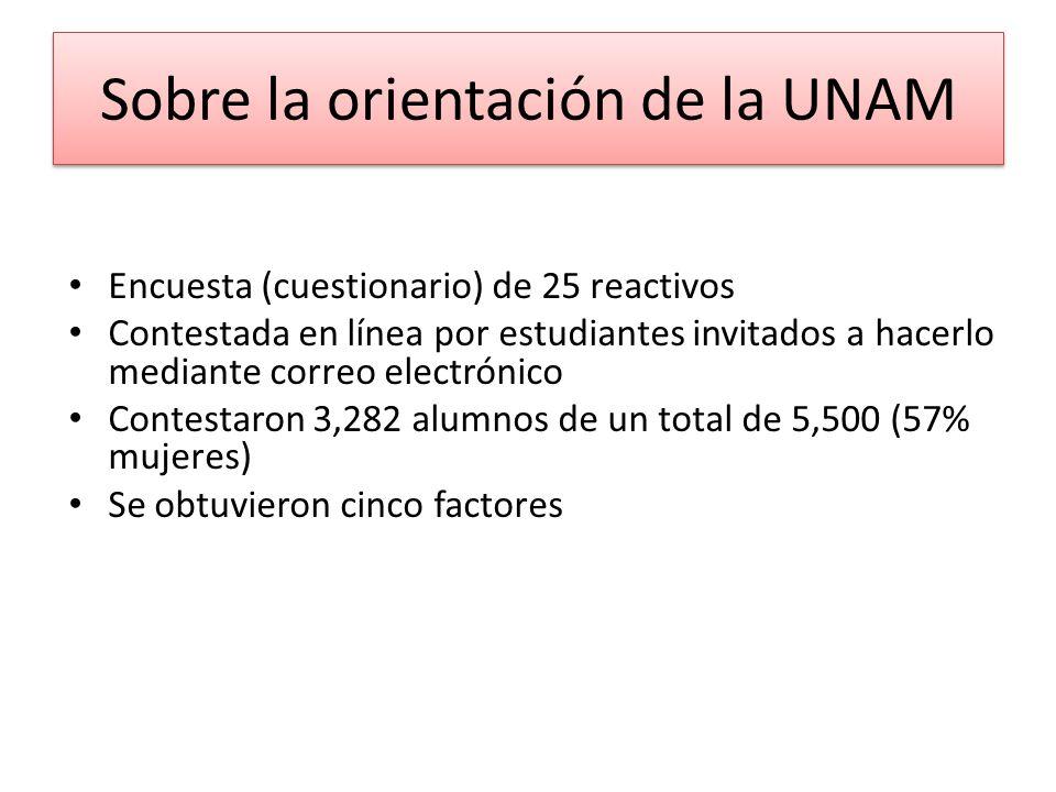 Sobre la orientación de la UNAM