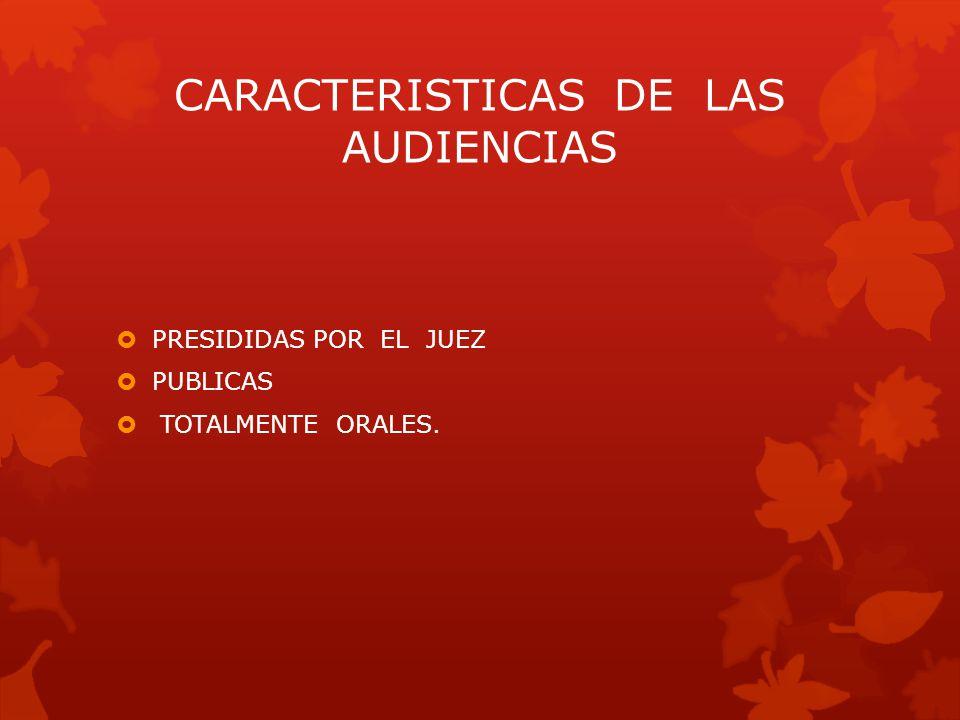 CARACTERISTICAS DE LAS AUDIENCIAS