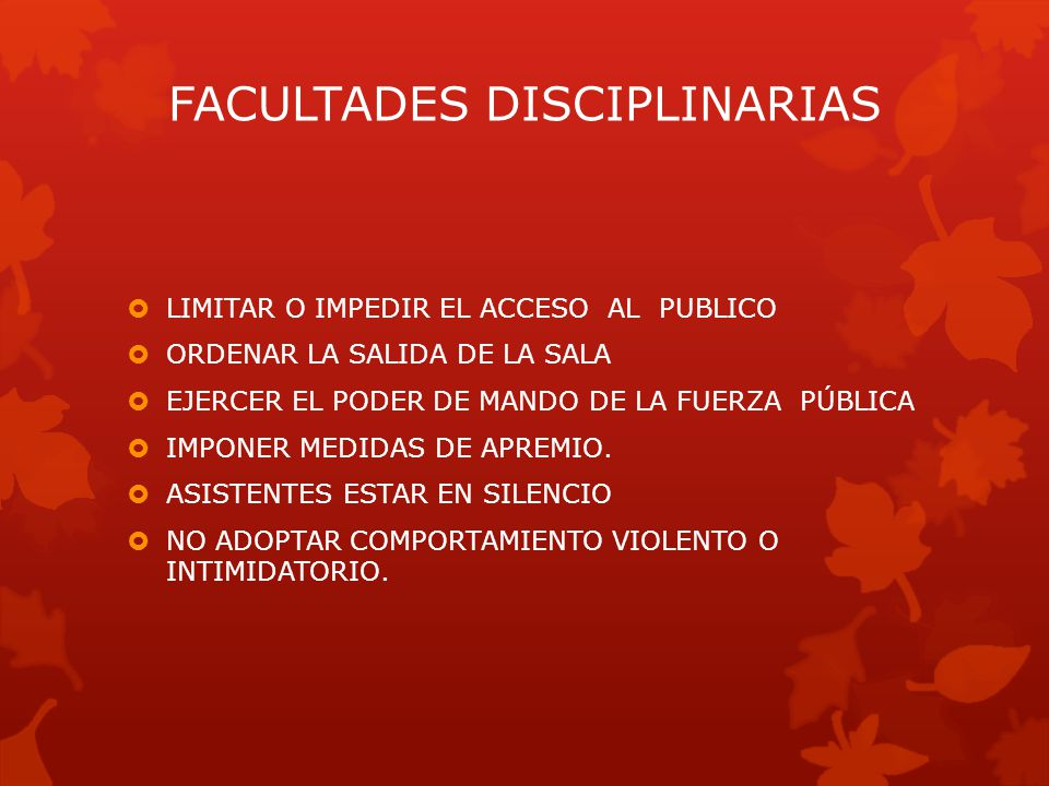 FACULTADES DISCIPLINARIAS