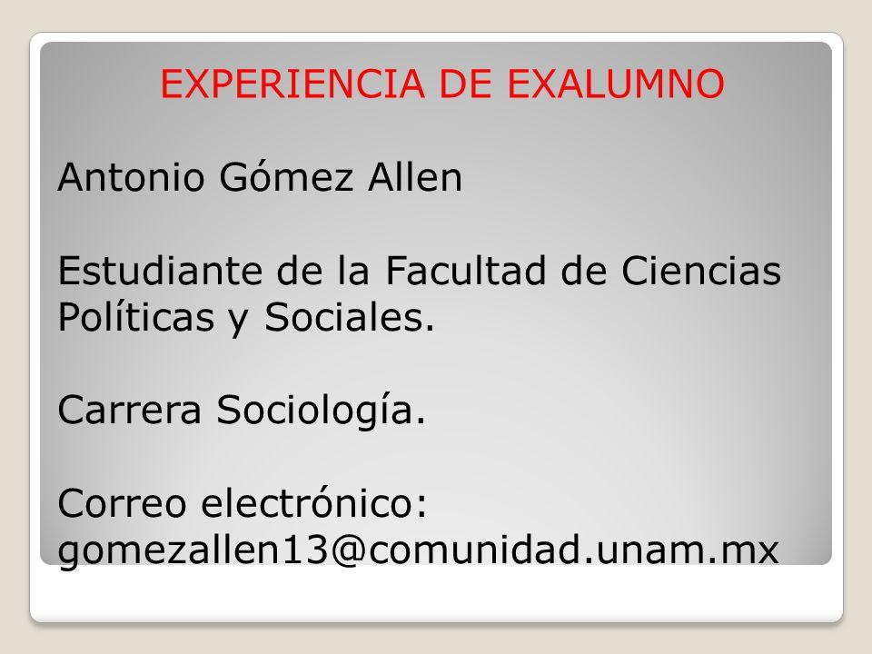 EXPERIENCIA DE EXALUMNO