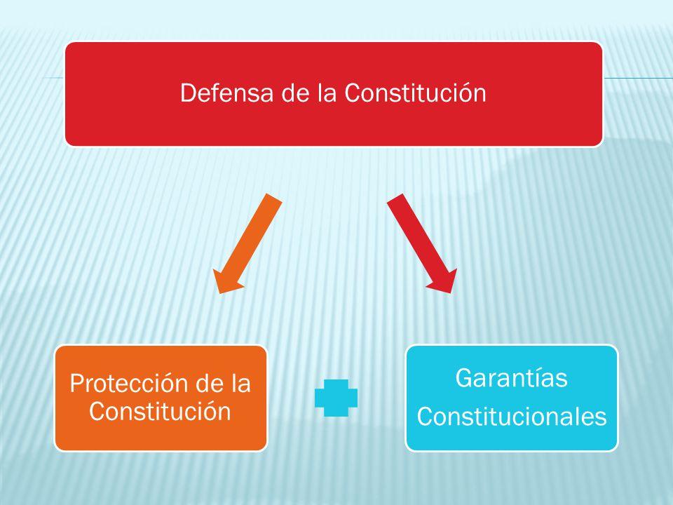 Defensa de la Constitución Constitucionales Garantías