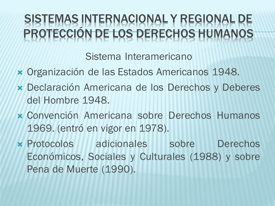 Sistema Interamericano