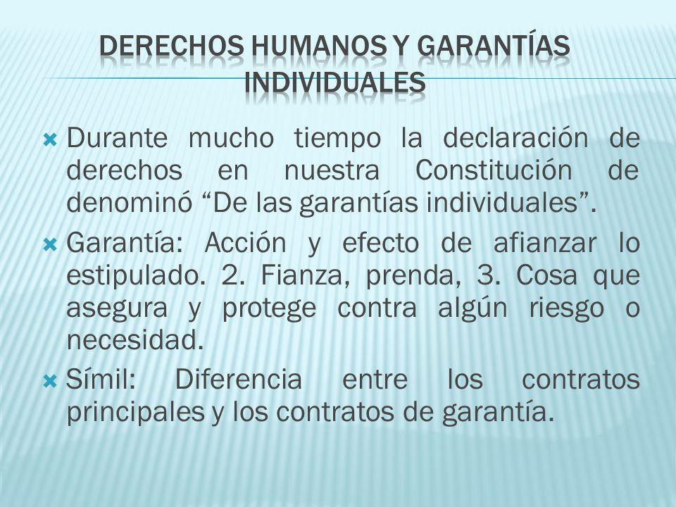 Derechos humanos y garantías individuales