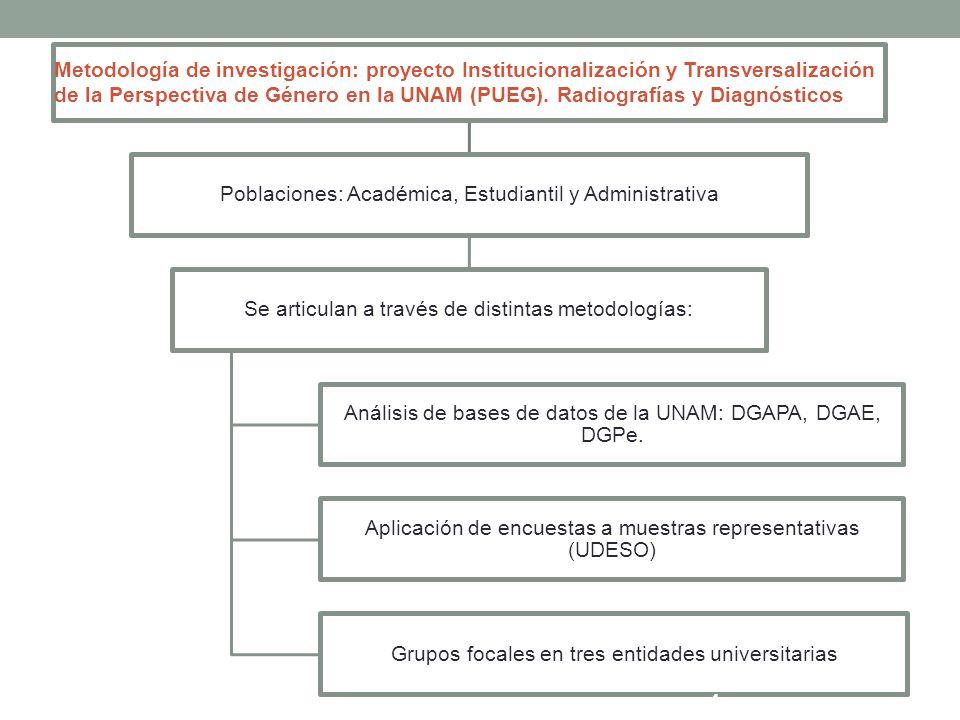 Poblaciones: Académica, Estudiantil y Administrativa