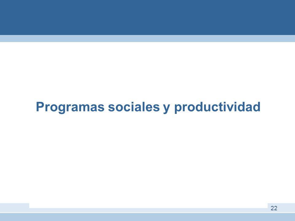 Programas sociales y productividad