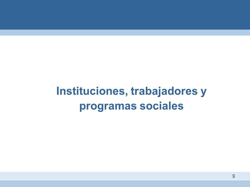 Instituciones, trabajadores y programas sociales