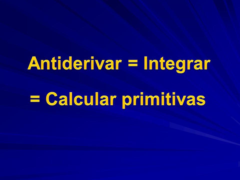 Antiderivar = Integrar