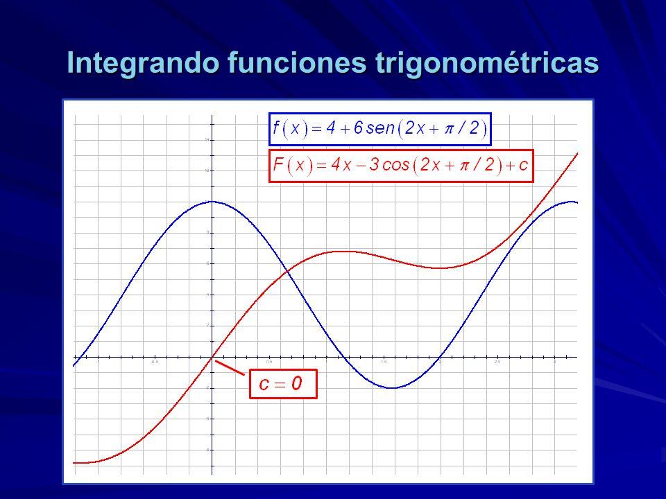 Integrando funciones trigonométricas