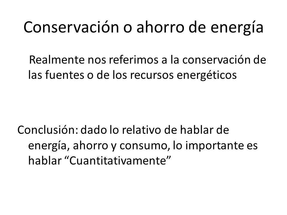 Conservación o ahorro de energía