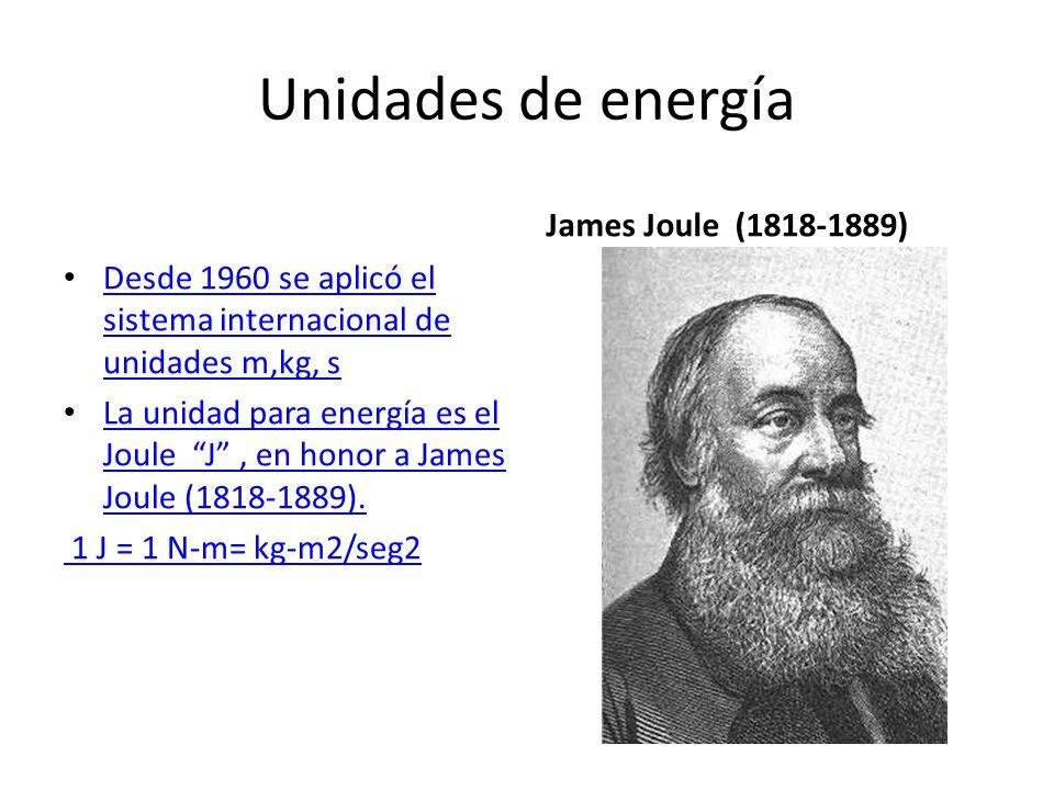 Unidades de energía James Joule (1818-1889)
