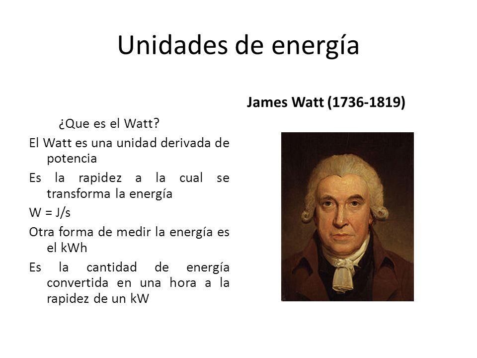 Unidades de energía James Watt (1736-1819)