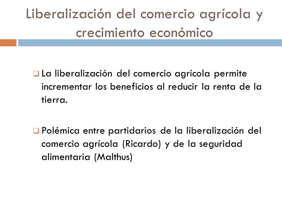Liberalización del comercio agrícola y crecimiento económico