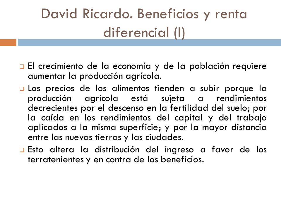 David Ricardo. Beneficios y renta diferencial (I)