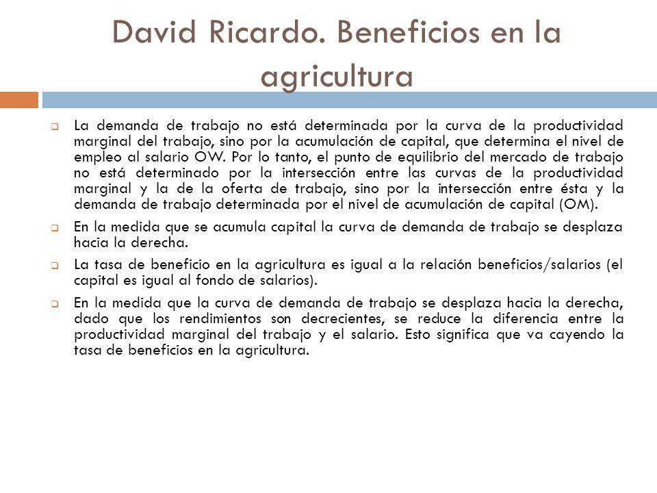 David Ricardo. Beneficios en la agricultura