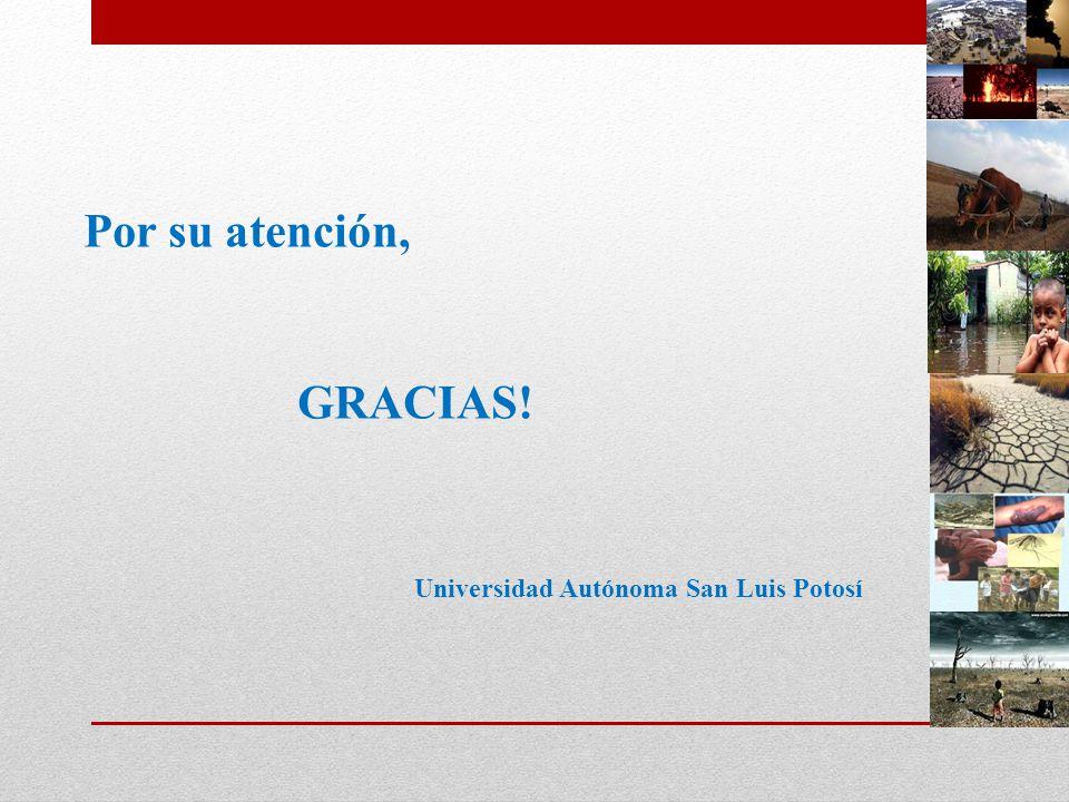 Por su atención, GRACIAS! Universidad Autónoma San Luis Potosí