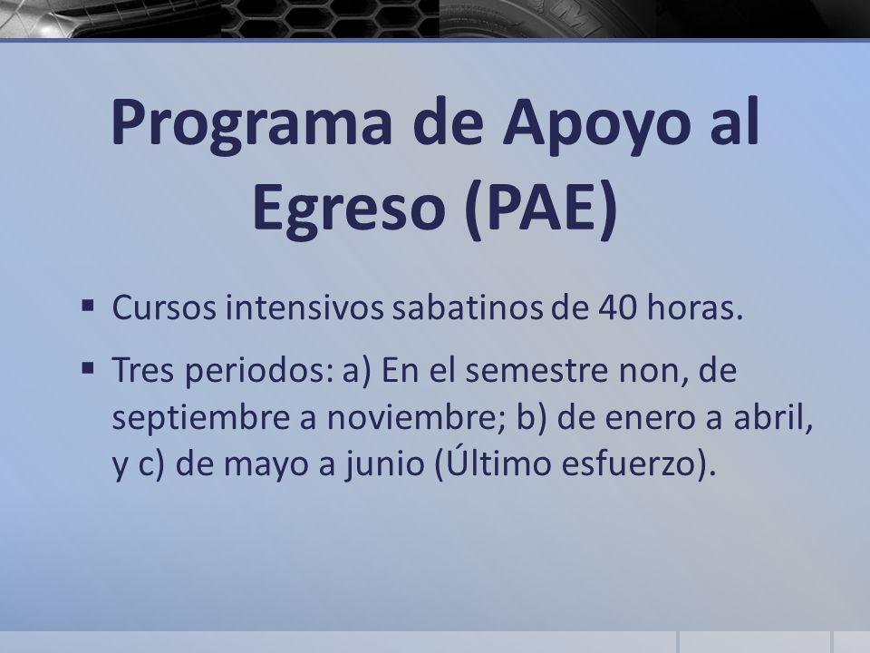 Programa de Apoyo al Egreso (PAE)