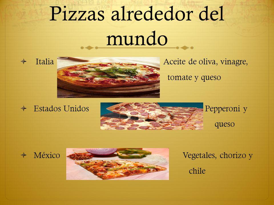 Pizzas alrededor del mundo