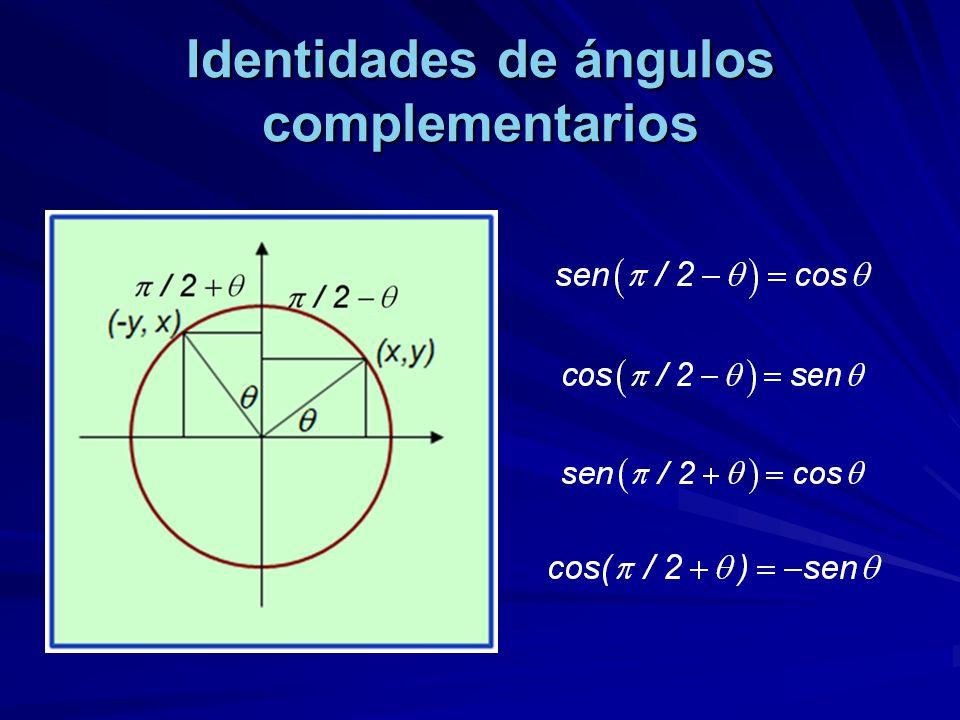 Identidades de ángulos complementarios