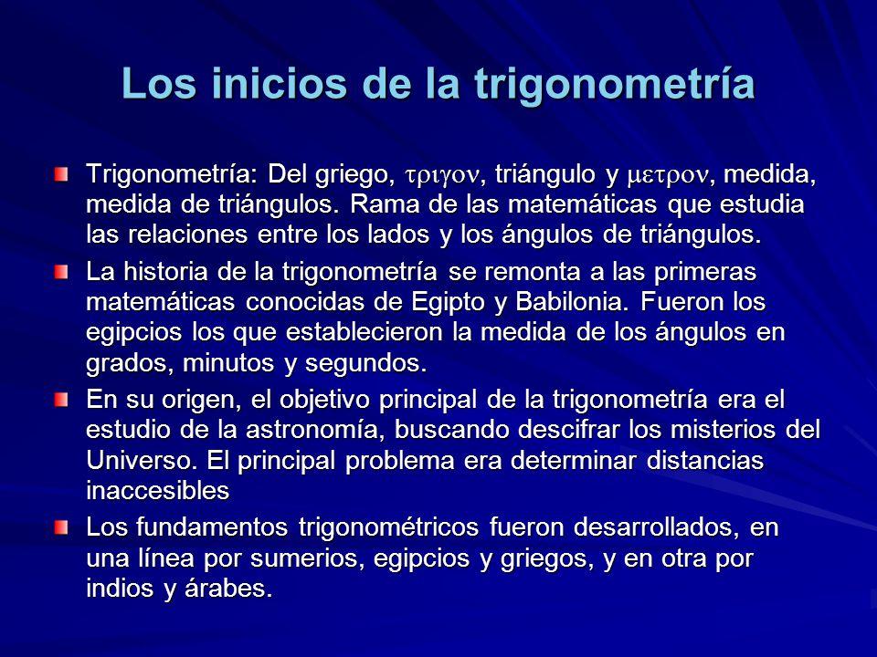 Los inicios de la trigonometría