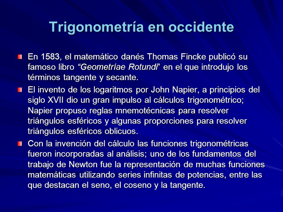 Trigonometría en occidente