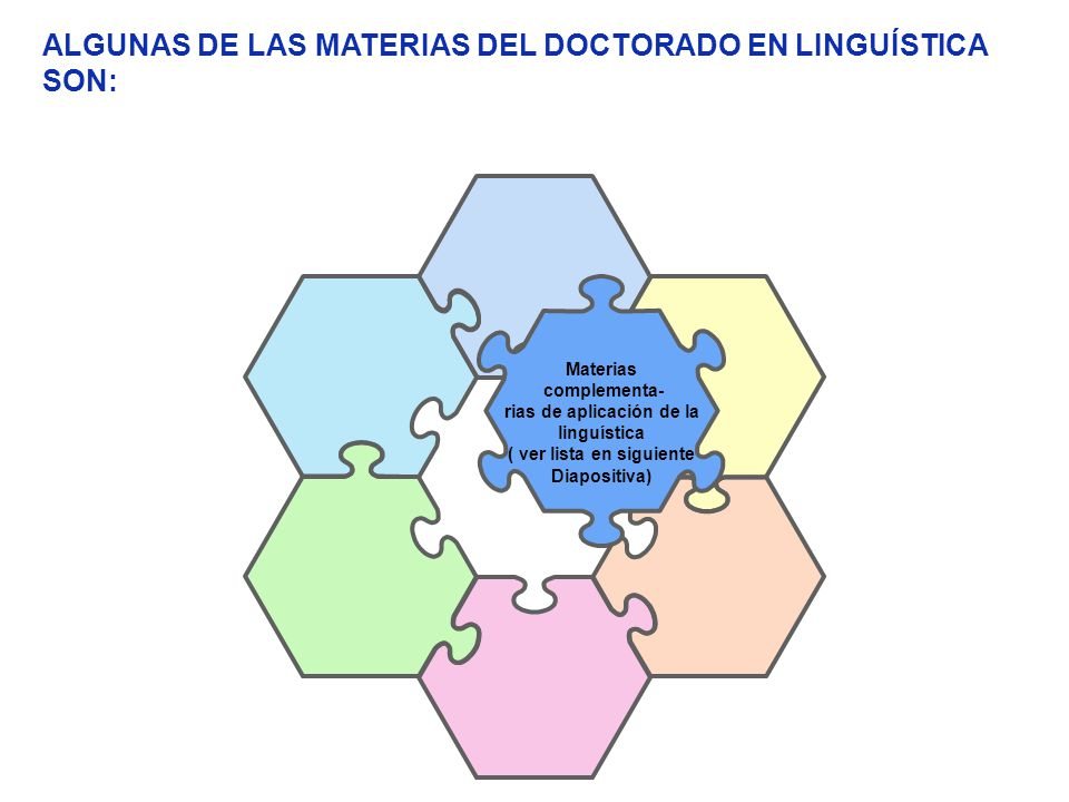 rias de aplicación de la linguística ( ver lista en siguiente