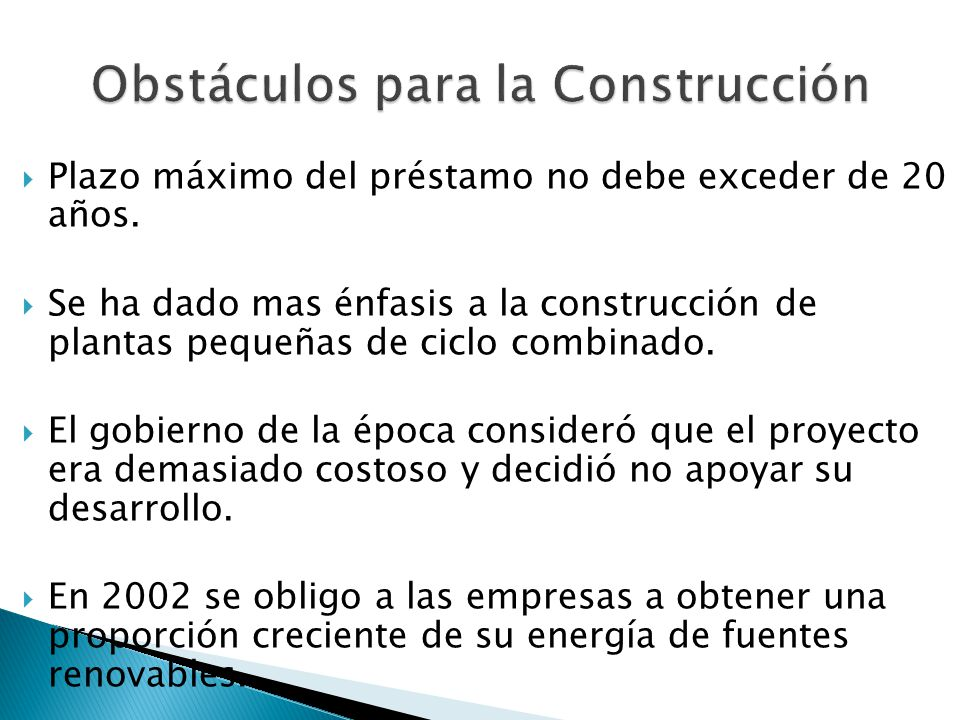 Obstáculos para la Construcción