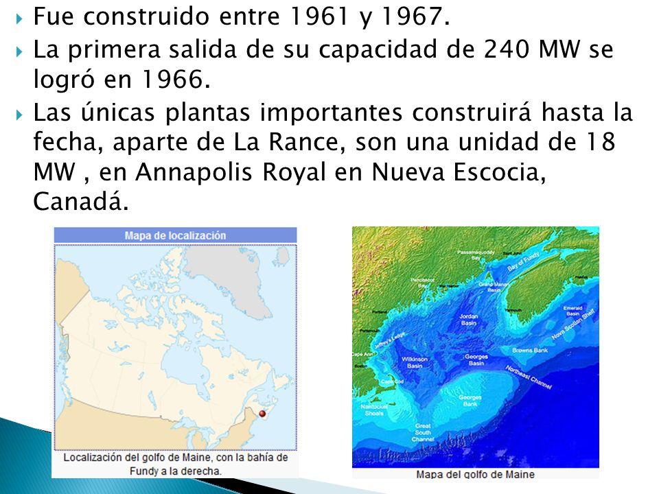 Fue construido entre 1961 y 1967. La primera salida de su capacidad de 240 MW se logró en 1966.