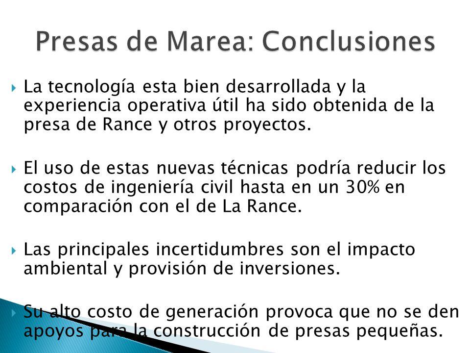 Presas de Marea: Conclusiones