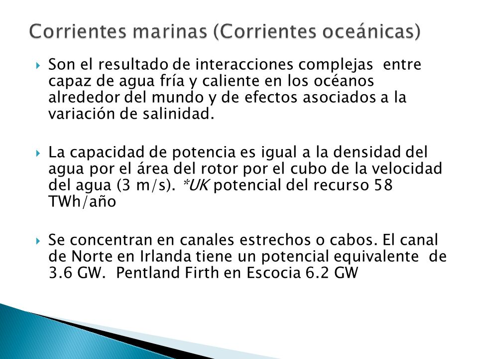 Corrientes marinas (Corrientes oceánicas)