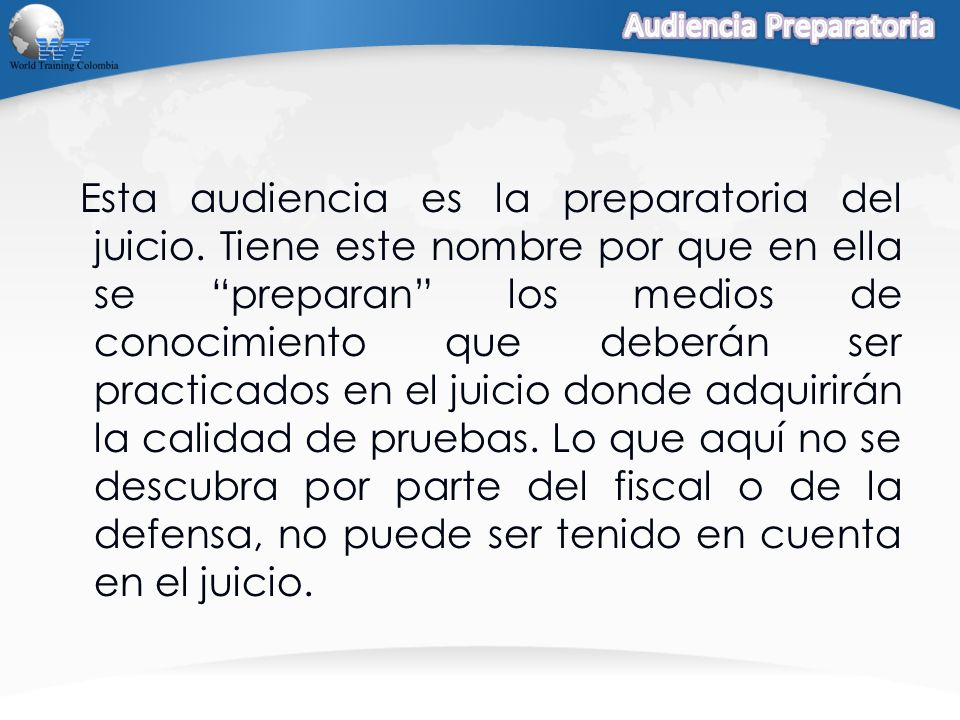 Audiencia Preparatoria