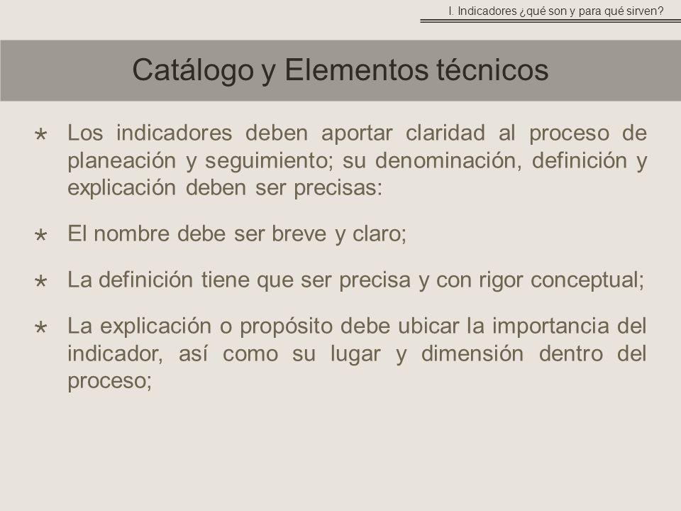 Catálogo y Elementos técnicos