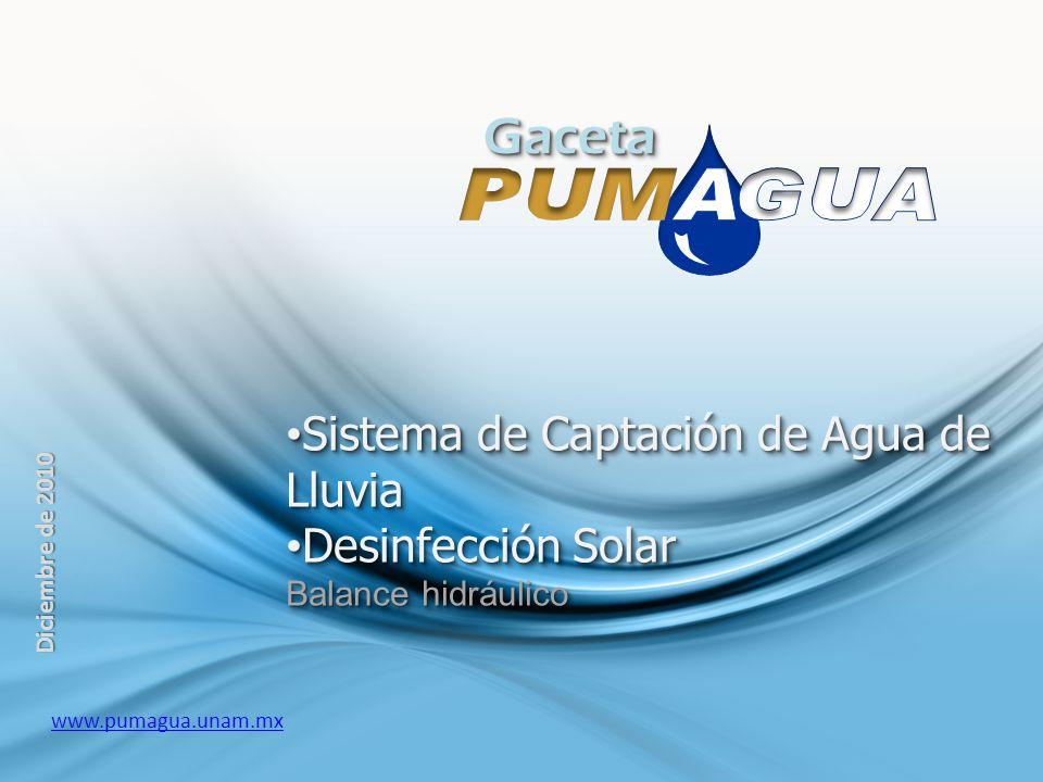 Gaceta Sistema de Captación de Agua de Lluvia Desinfección Solar
