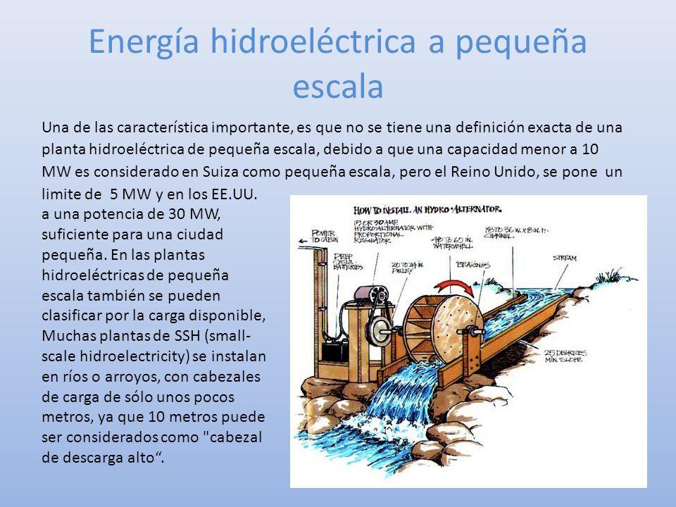 Energía hidroeléctrica a pequeña escala