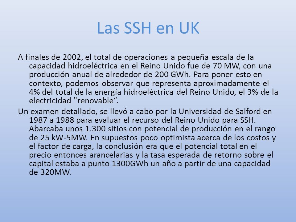 Las SSH en UK