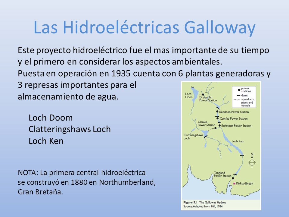 Las Hidroeléctricas Galloway