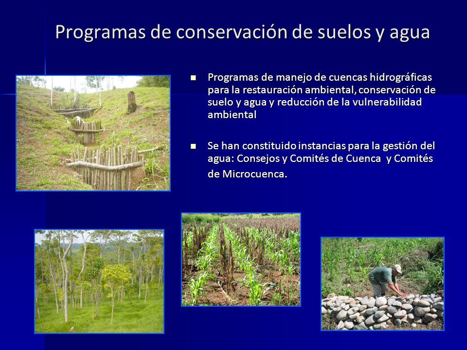 Programas de conservación de suelos y agua
