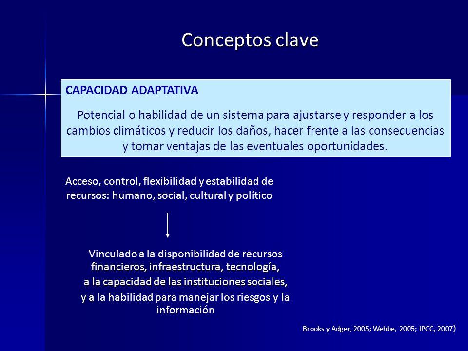 Conceptos clave CAPACIDAD ADAPTATIVA