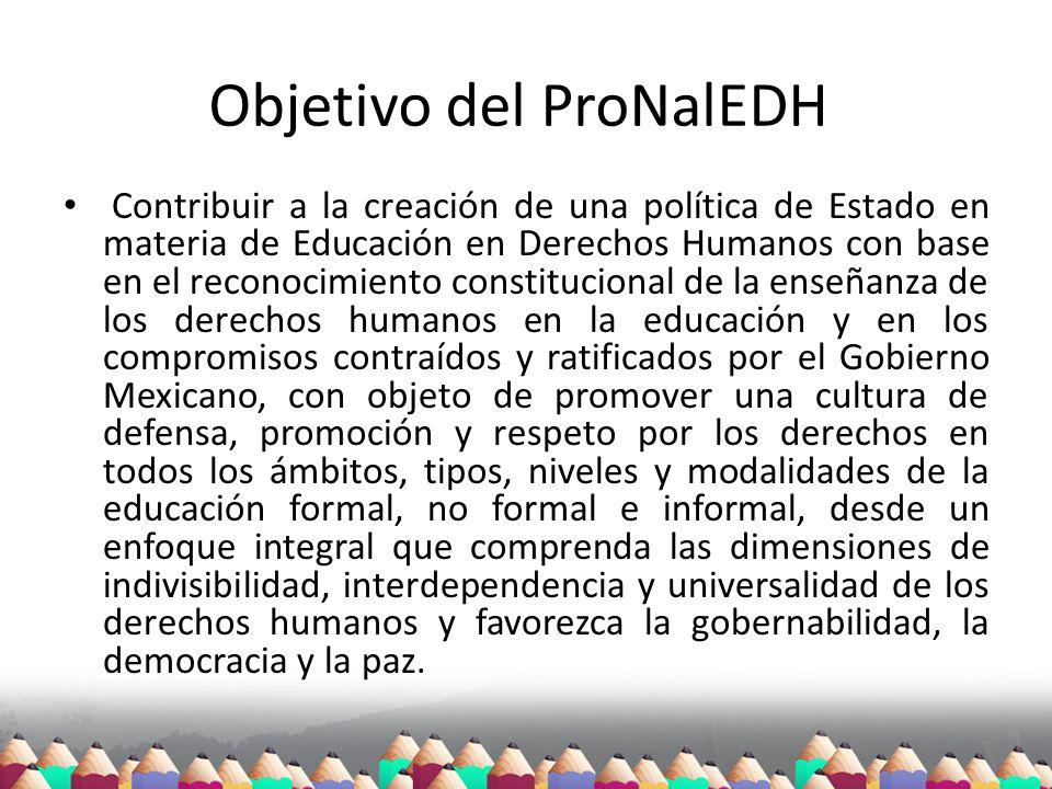 Objetivo del ProNalEDH