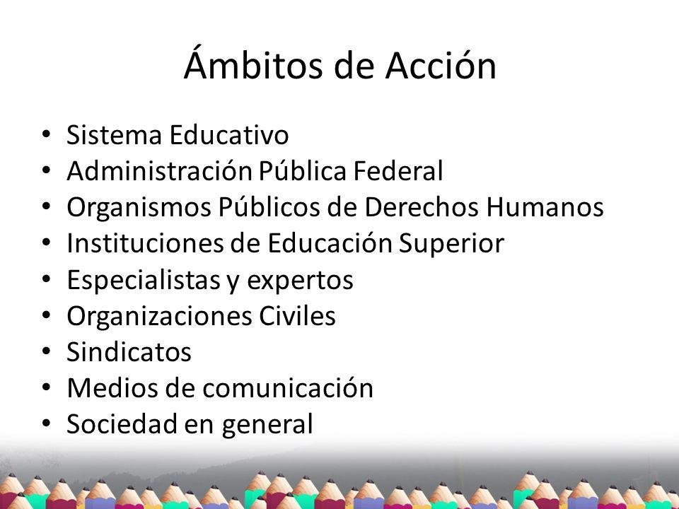 Ámbitos de Acción Sistema Educativo Administración Pública Federal