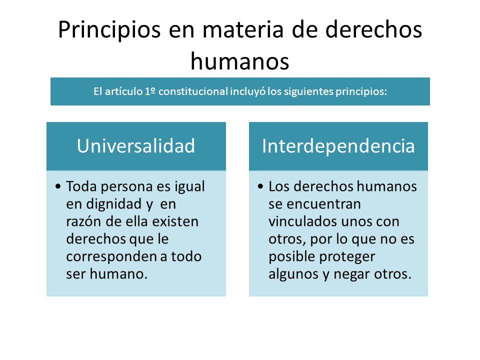 Principios en materia de derechos humanos