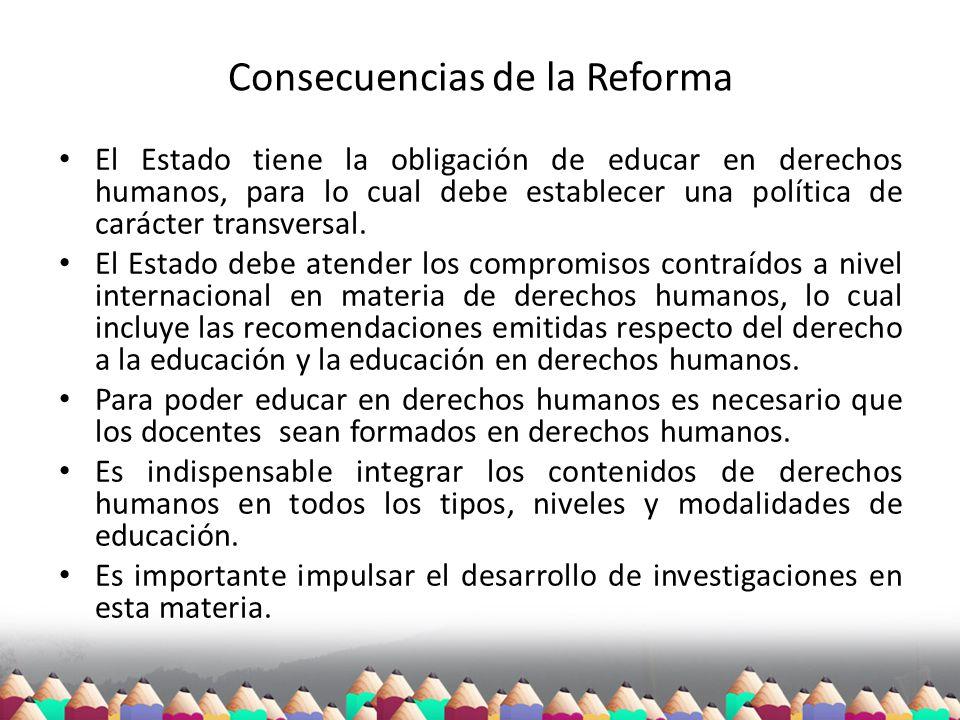 Consecuencias de la Reforma