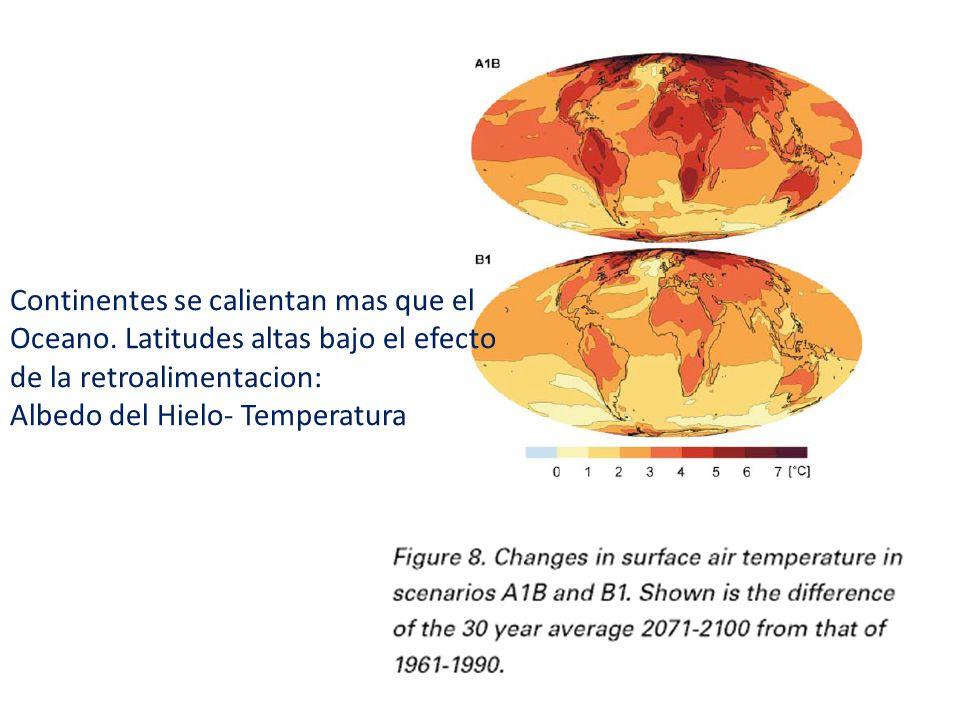 Continentes se calientan mas que el