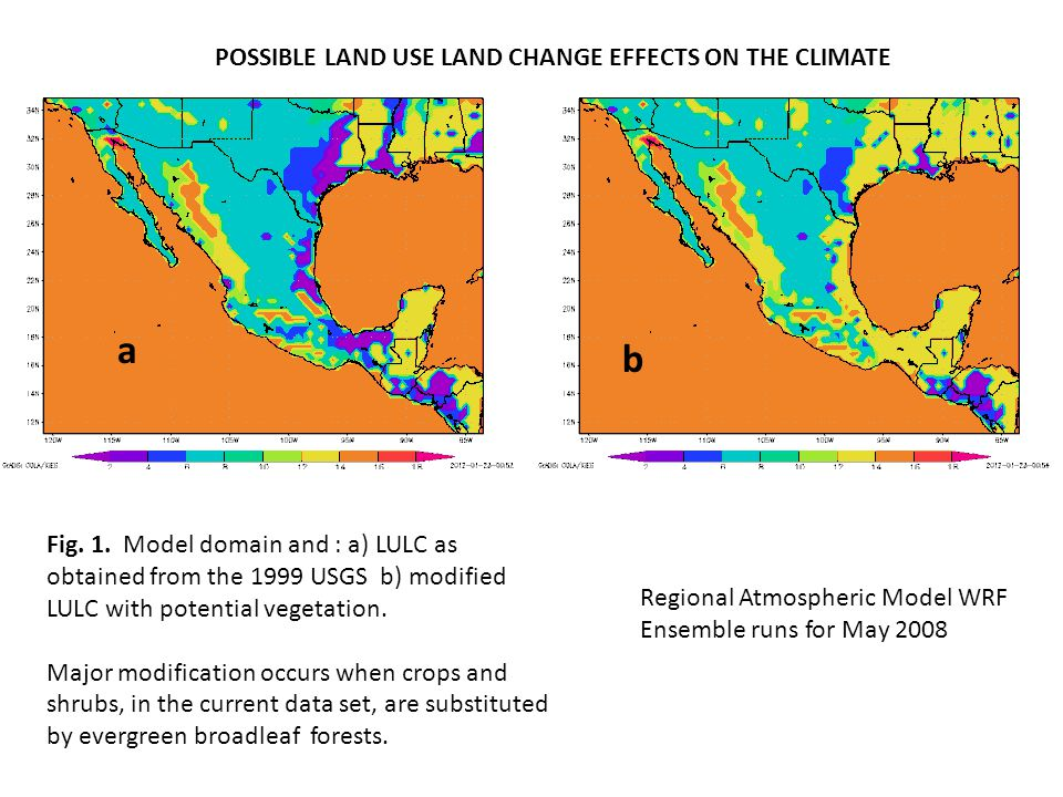 a b POSSIBLE LAND USE LAND CHANGE EFFECTS ON THE CLIMATE