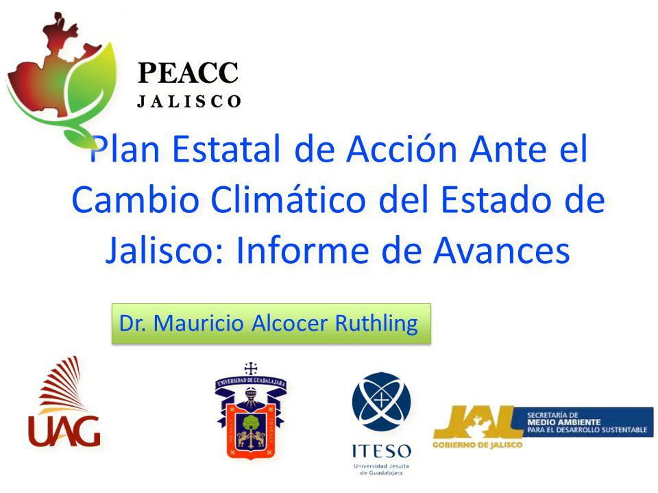 Plan Estatal de Acción Ante el Cambio Climático del Estado de Jalisco: Informe de Avances