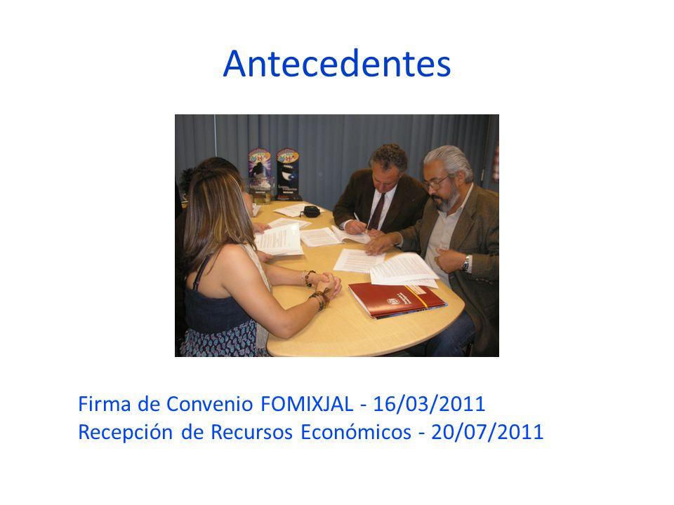 Antecedentes Firma de Convenio FOMIXJAL - 16/03/2011
